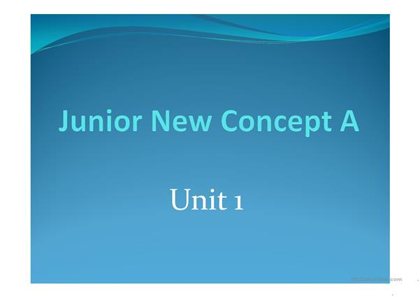 Junior New Concept English Unit 1 (Starter A)