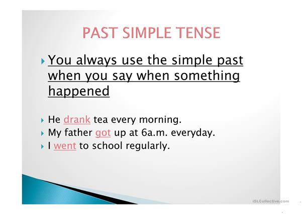 Past Tense- An Overview