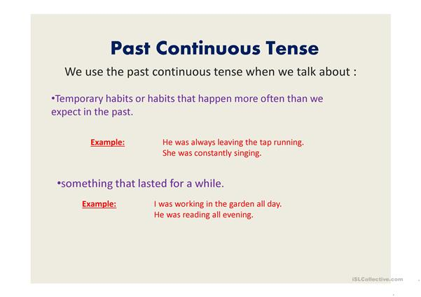Past tense revision powerpoint