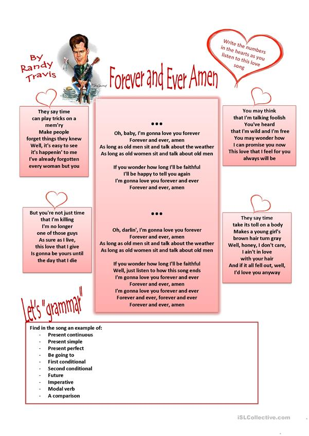 St. Valentine's day: Forever and ever Amen. Song