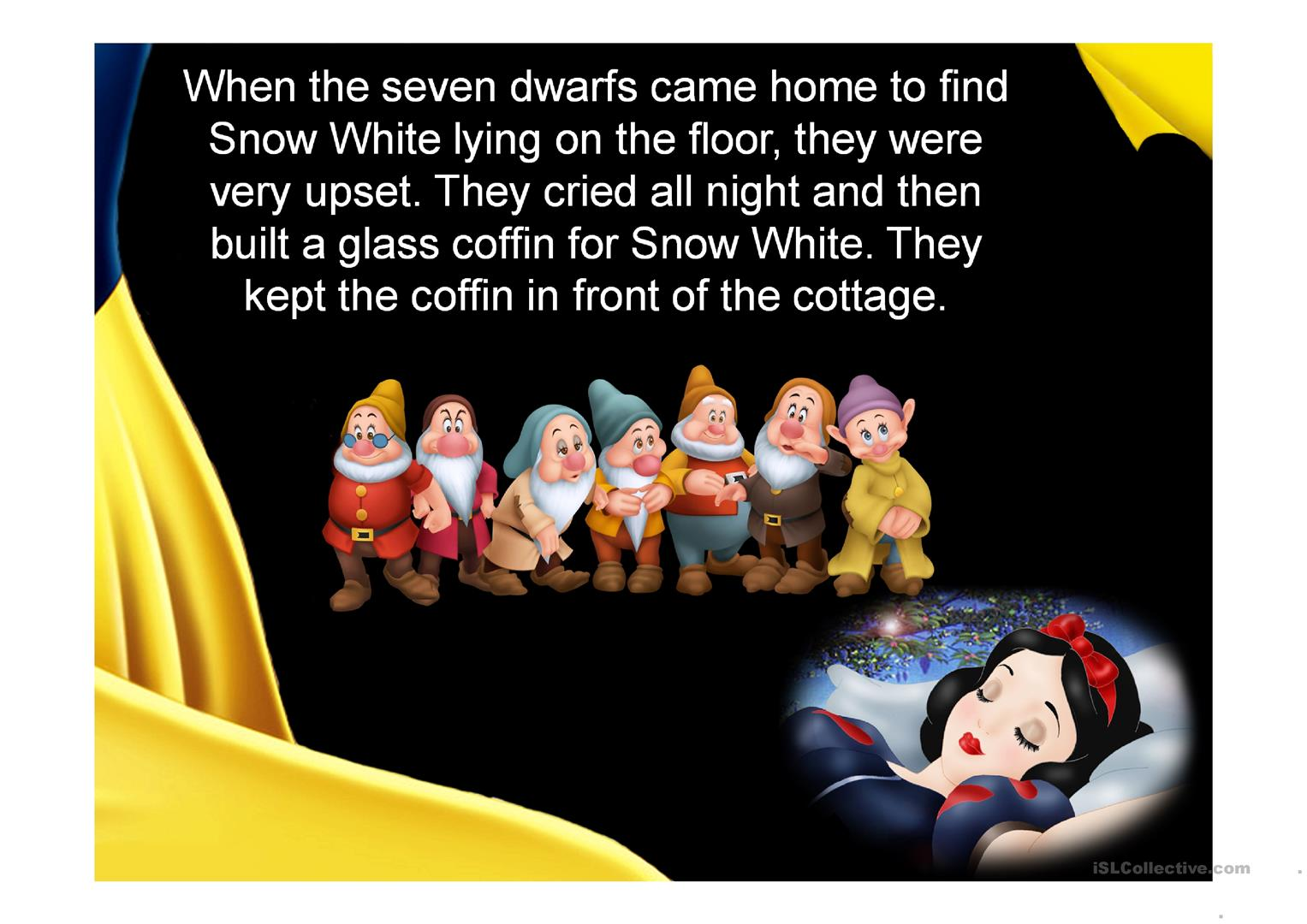 Snow White and the Seven Dwarfs worksheet - Free ESL projectable