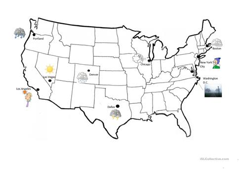 weather in us cities map