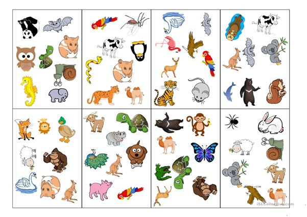 Animals SPOT IT game