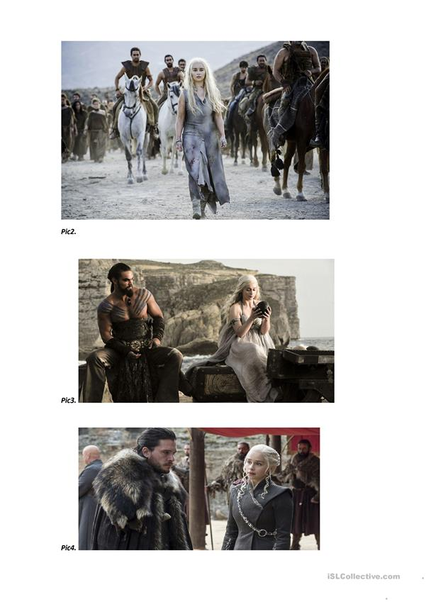Game of thrones present simple present continuous