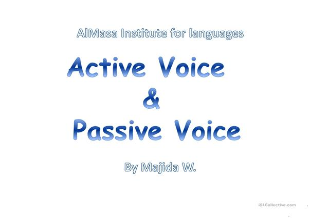 passive Voice teaching Lesson