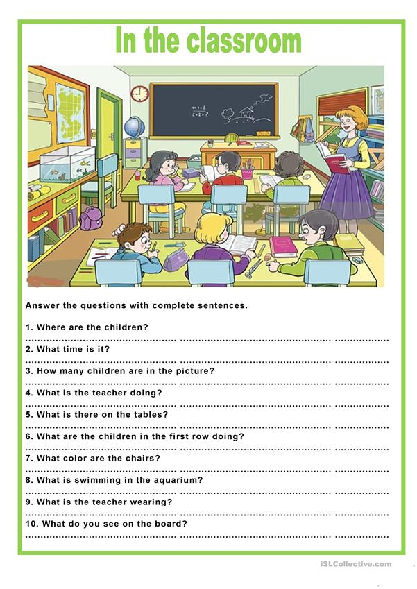 Picture description -  in the classroom