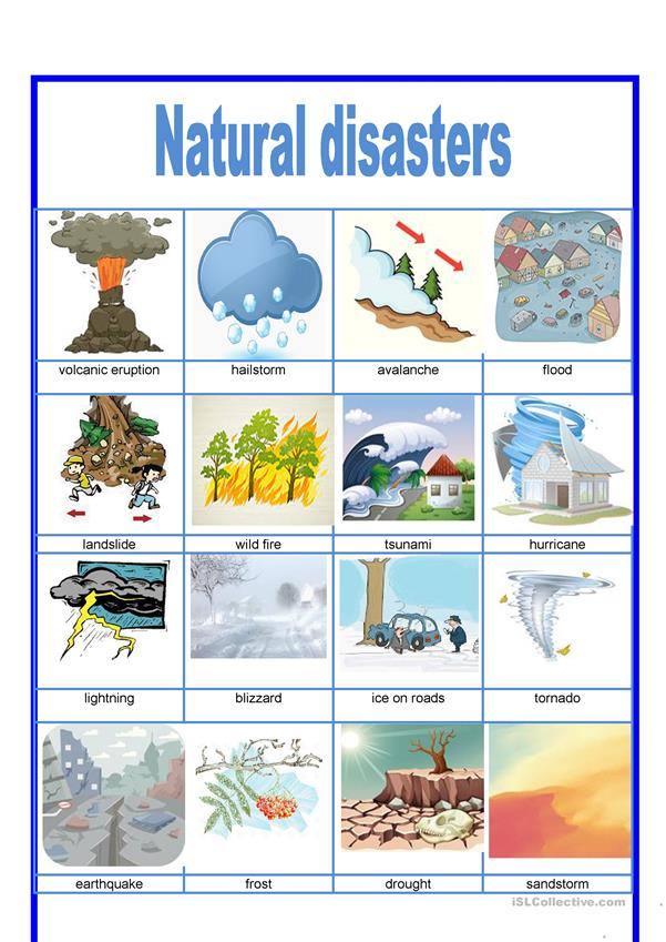 Picture dictionary -  Natural disasters