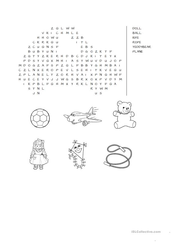 TOYS WORDSEARCH
