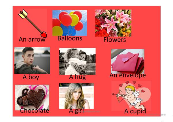 Valentine's day guessing game