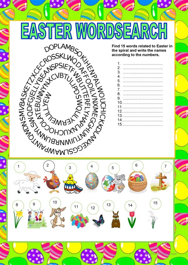 Wordsearch - Easter