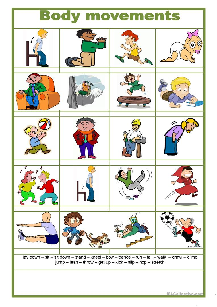 Body Movement English Esl Worksheets For Distance Learning And Physical Classrooms