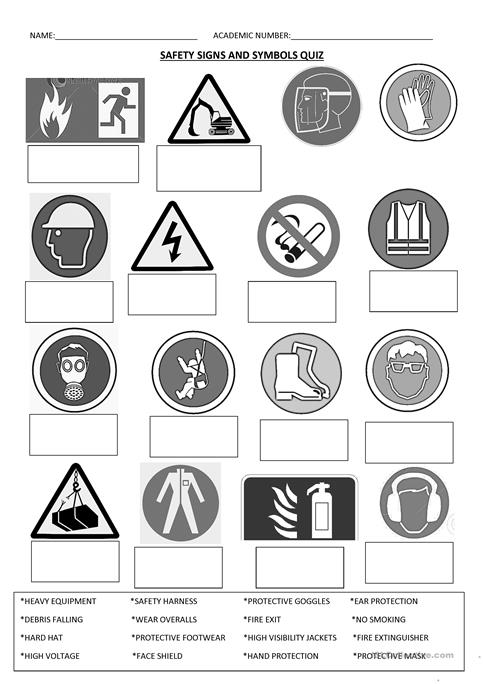 Health and safety signs and symbols by goldson1 - Teaching ...