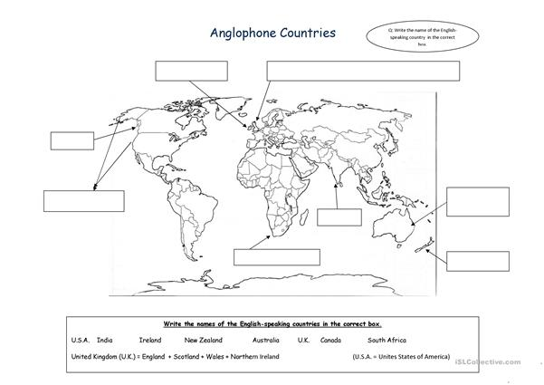 Anglophone countries