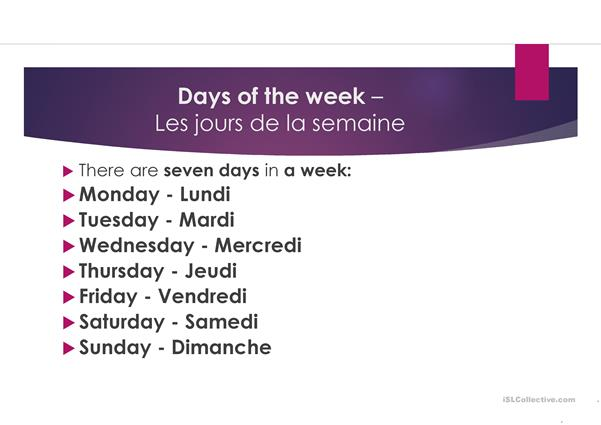 Days-Months-Ordinal Numbers