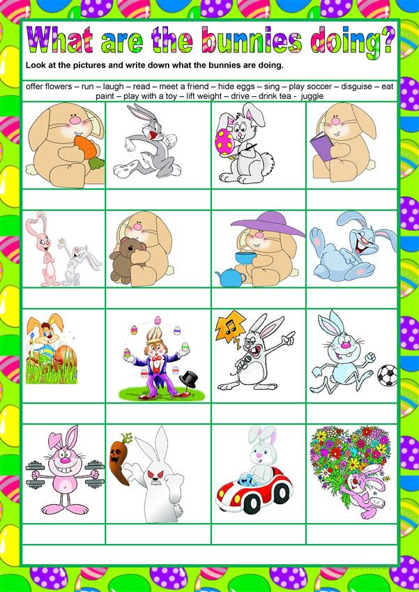 Easter - What are the bunnies doing?