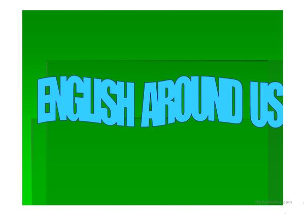 English Around Us