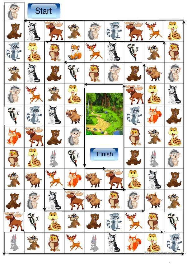 Forest animals board game