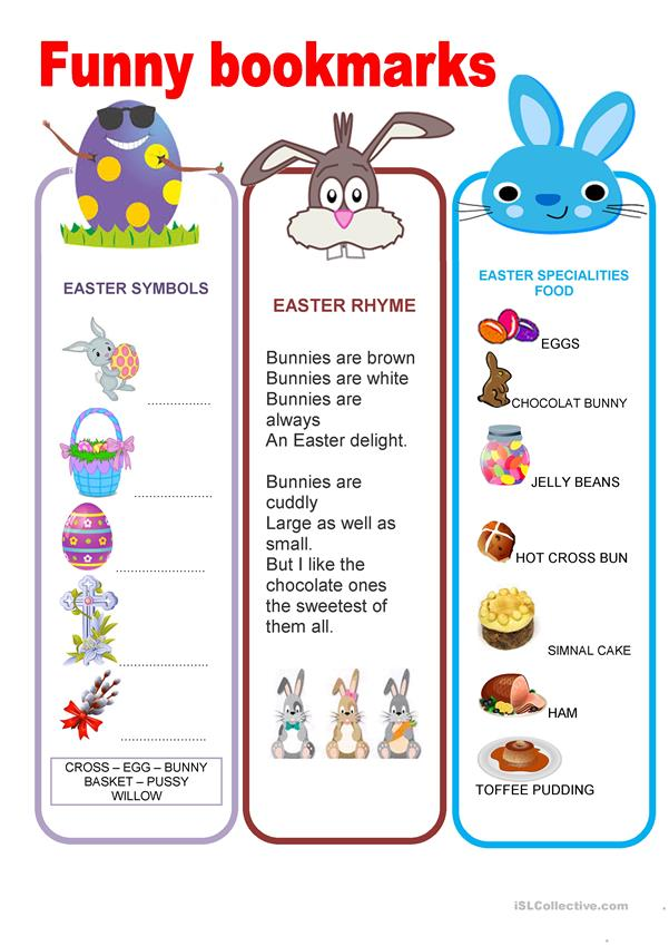 Funny bookmarks - Easter 2