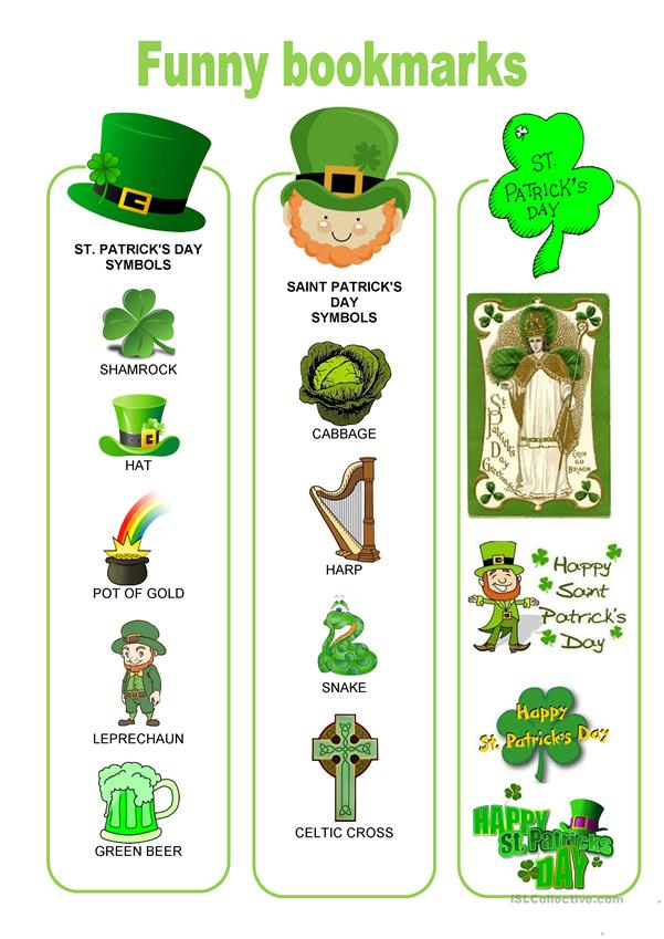 Funny bookmarks - Saint Patrick's day