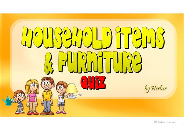 HOUSEHOLD ITEMS & FURNITURE