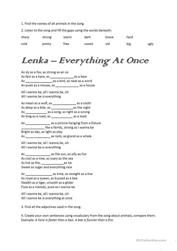 Lenka - Everything At Once song