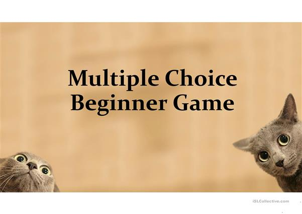 Multiple Choice Game for Beginner