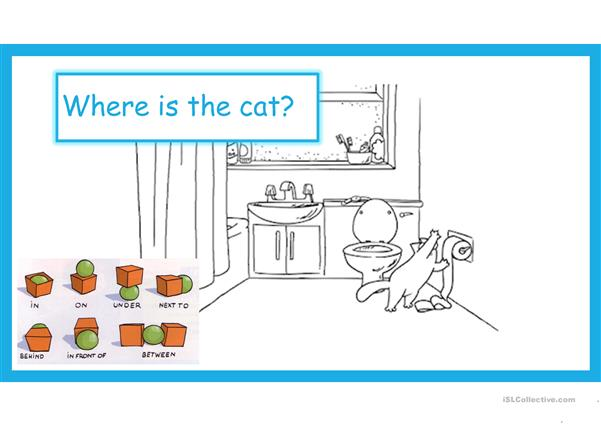 Prepositions with Simon's Cat - animated gifs