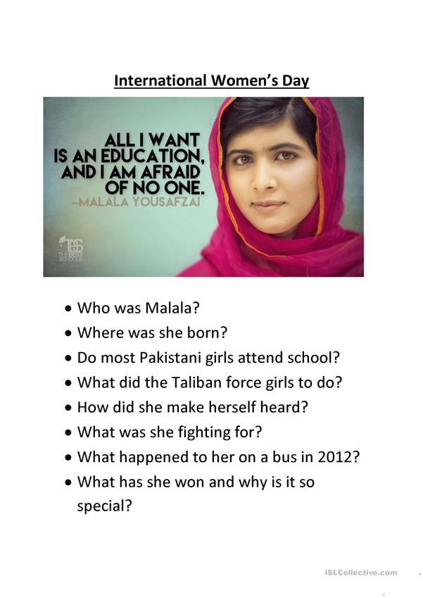 Reading Comprehension - Malala Yousafzi