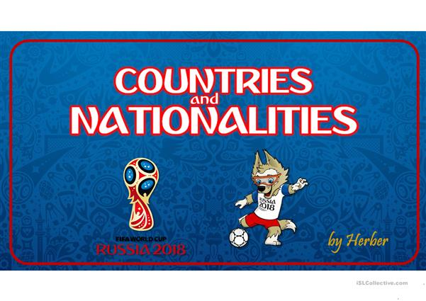 RUSSIA 2018 - COUNTRIES & NATIONALITIES
