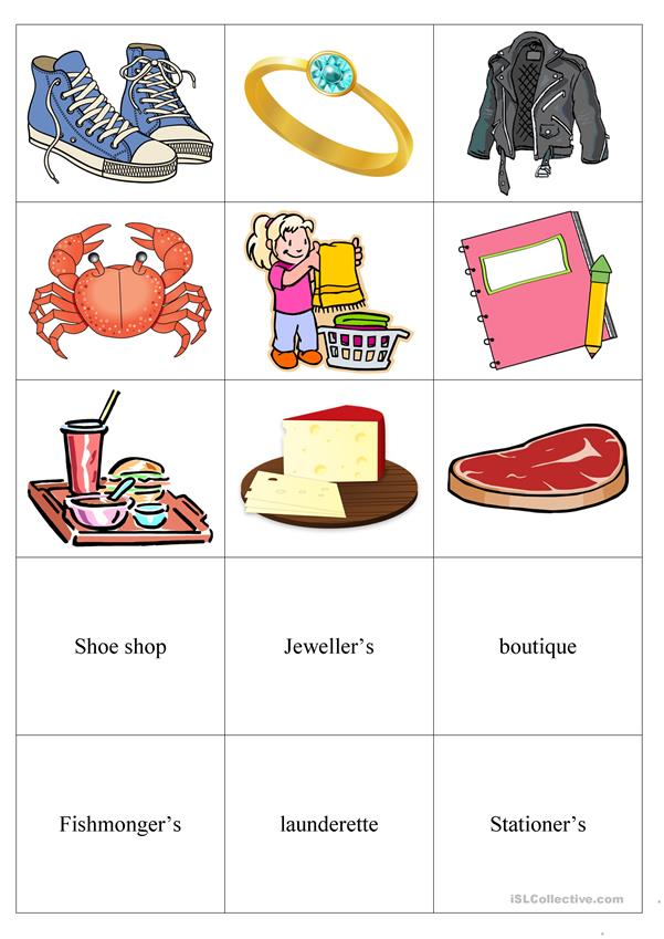 Shops and shopping matching activity
