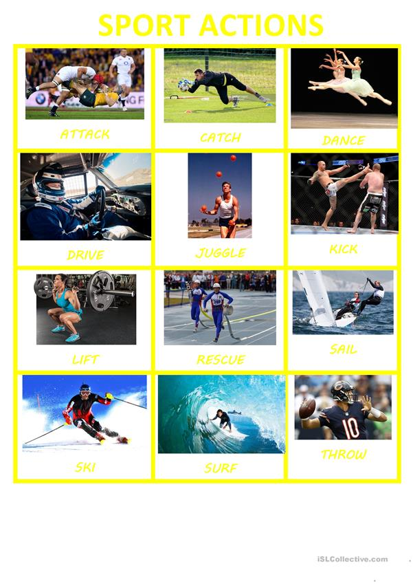 SPORTS&ACTIONS POSTER-FLASHCARDS II