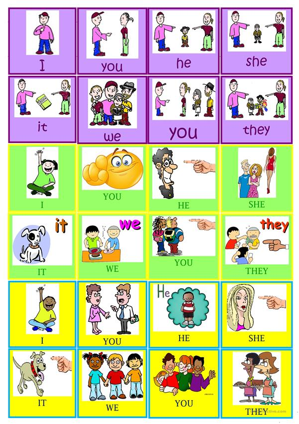 SUBJECT PRONOUNS FLASHCARDS