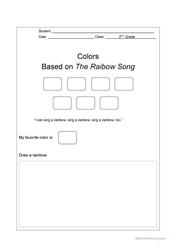 The Rainbow Song Listening Activity