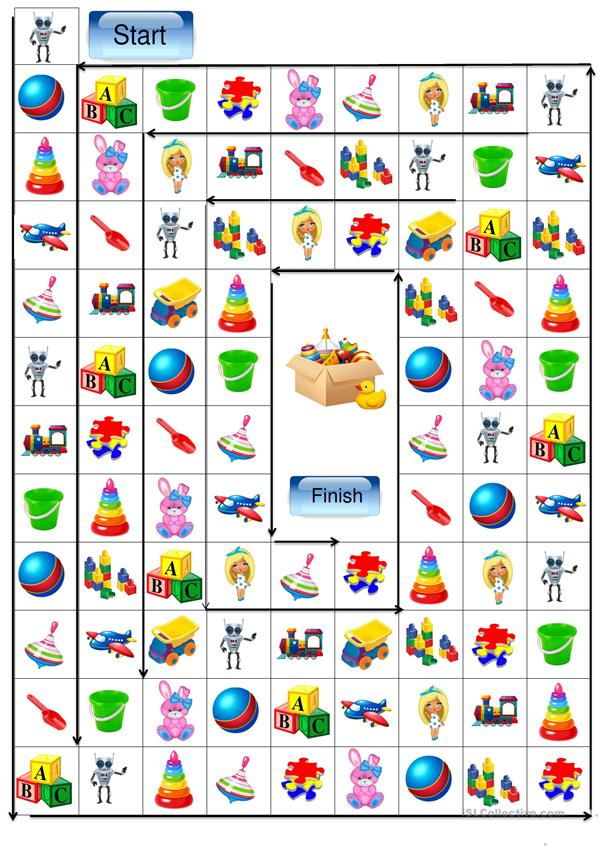 Toys vocabulary - board game