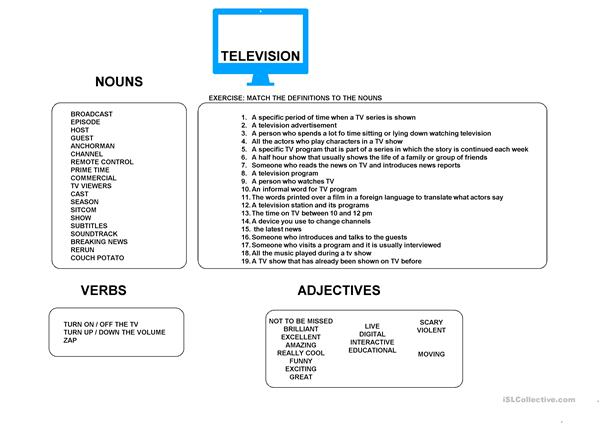 TV VOCABULARY