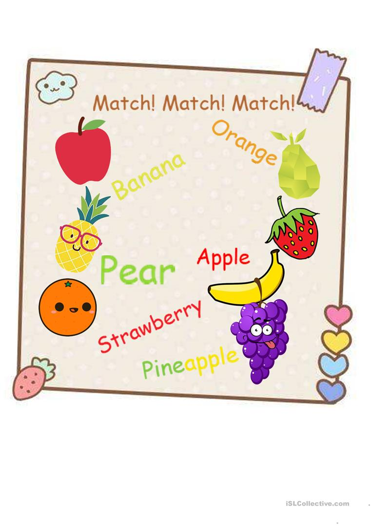 Worksheet For Kids To Learn Fruits English Esl Worksheets For Distance Learning And Physical Classrooms