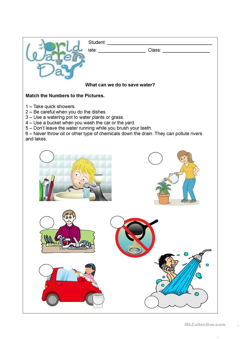 World Water Day English Esl Worksheets