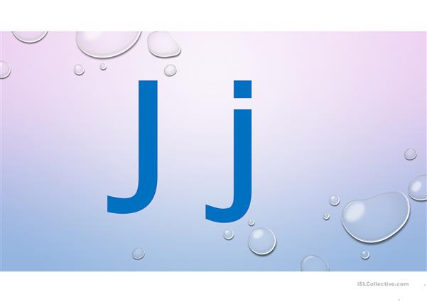 alphabet words J