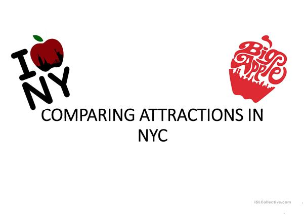 Comparing attractions in New-York City