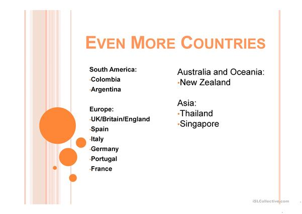 Even More Countries