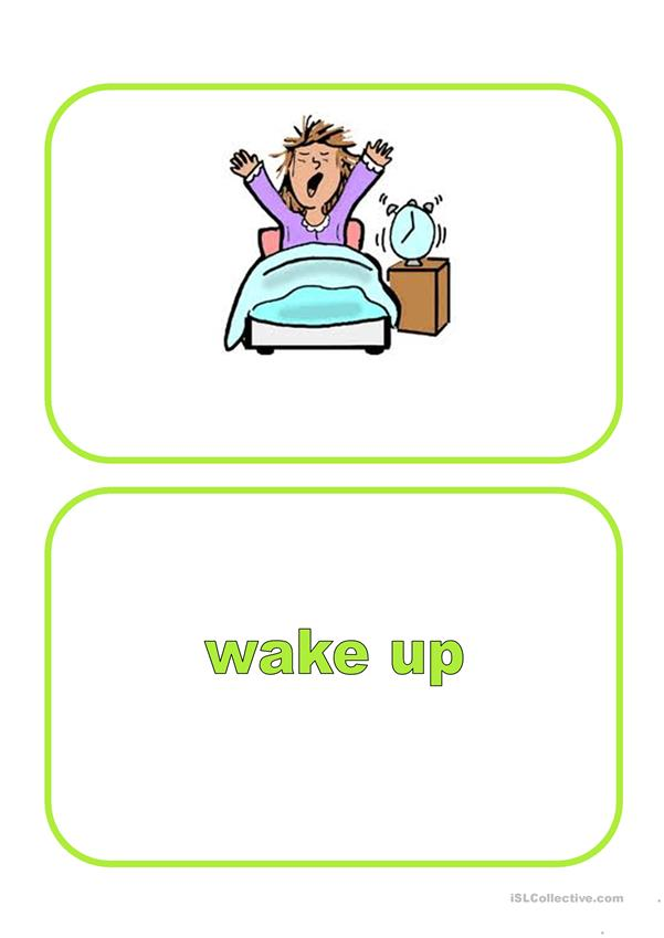 Flashcards - Daily routine