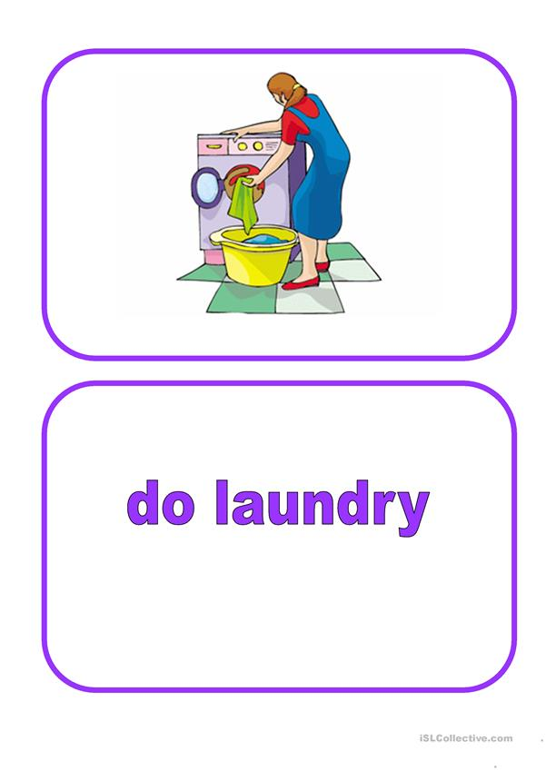 Flashcards - Household chores