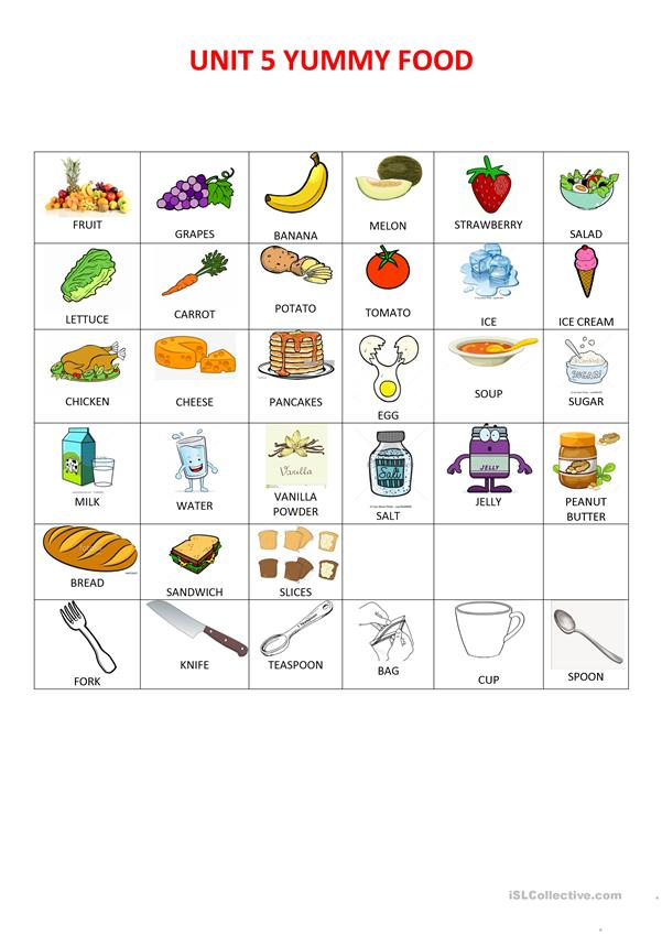 FOOD AND PRESENT SIMPLE VERB TO LIKE