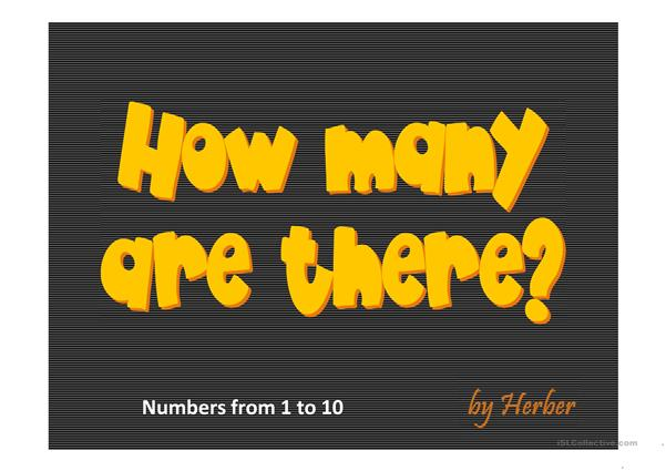 HOW MANY ARE THERE?