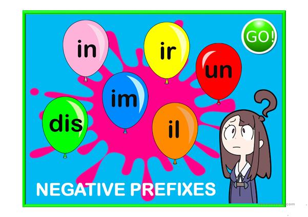 Prefixed adjectives