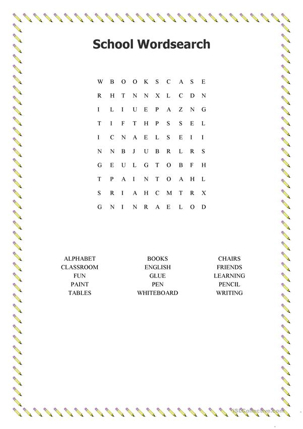 School Wordsearch