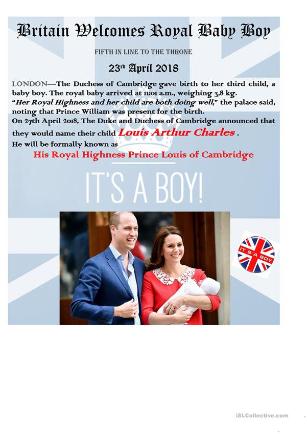 UK ROYAL FAMILY - IT'S A BOY (April 2018)-updated!