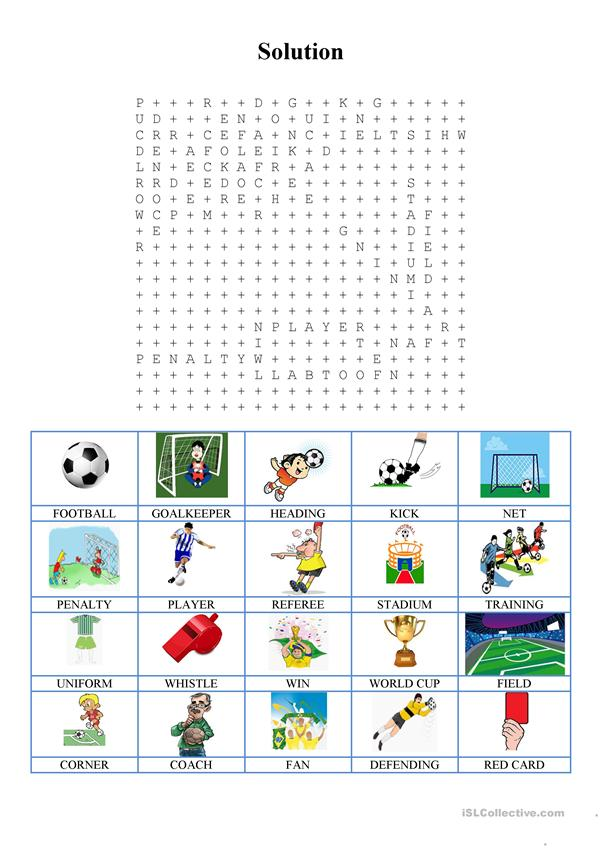 Wordsearch - Football/Soccer