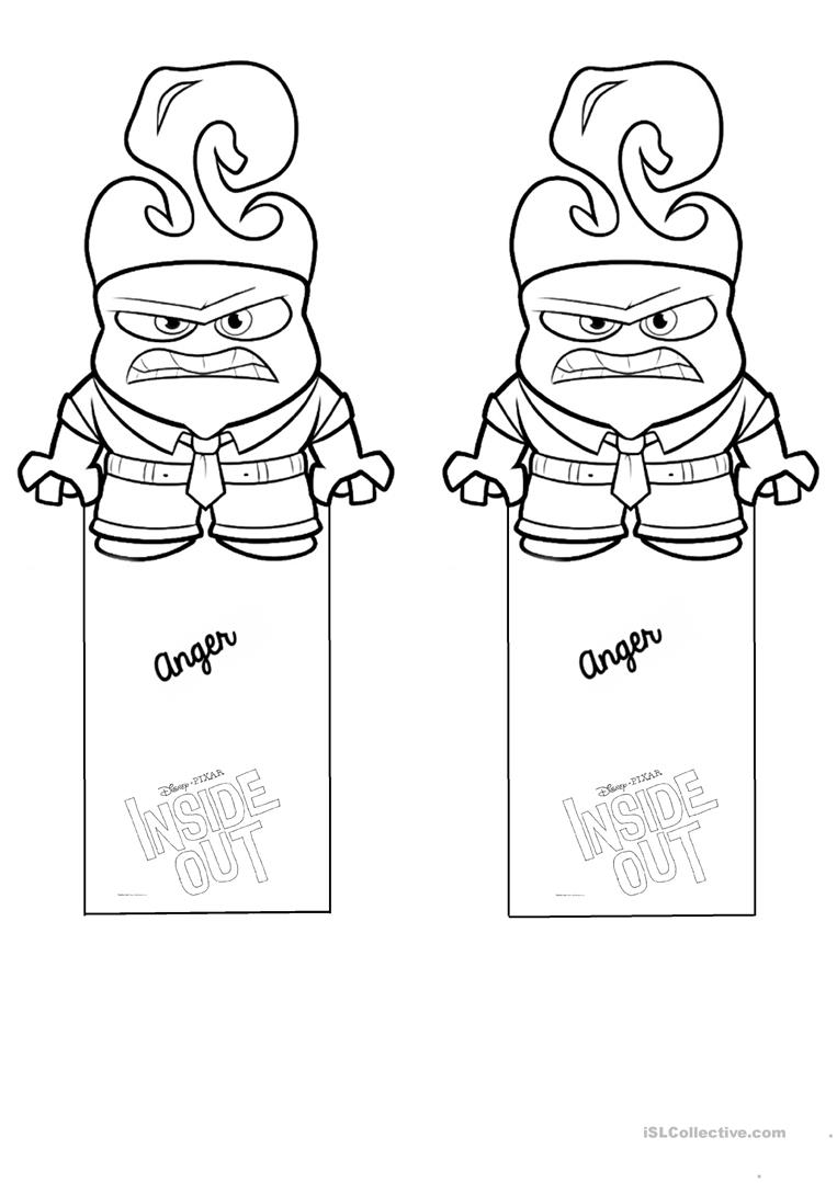 bookmark template inside out feelings and emotions worksheet free