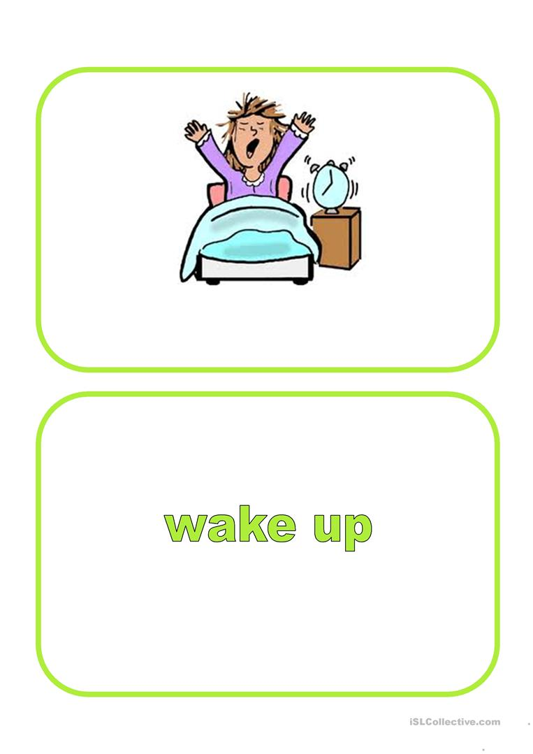 Flashcards Daily Routine English Esl Worksheets For Distance Learning And Physical Classrooms